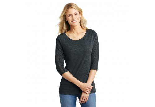 Women's Tri-blend Lace 1/2 Sleeve