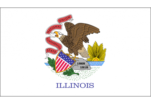 3'x5' Illinois State Flag Nylon