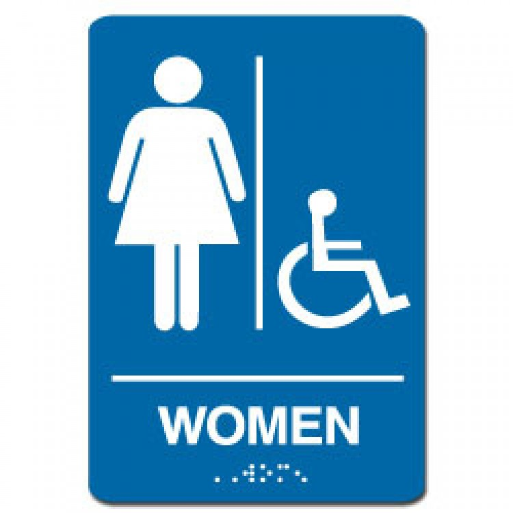 Bathroom Sign Handicap handicap restroom sign