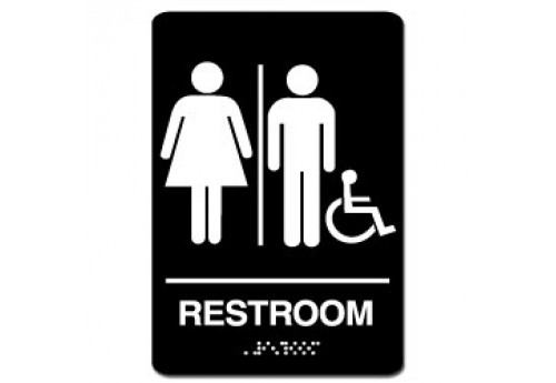 Handicap Restroom Sign