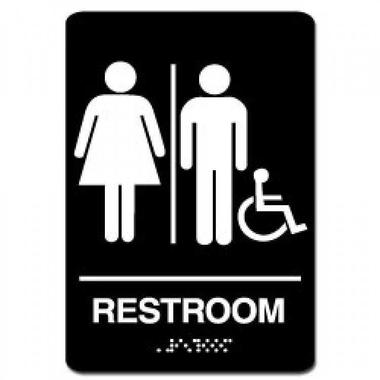 8x8 unisex handicap restroom handicap bathroom dimensions for Unisex handicap bathroom sign