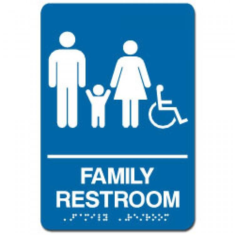 Handicap bathroom sign - Family Restroom Sign