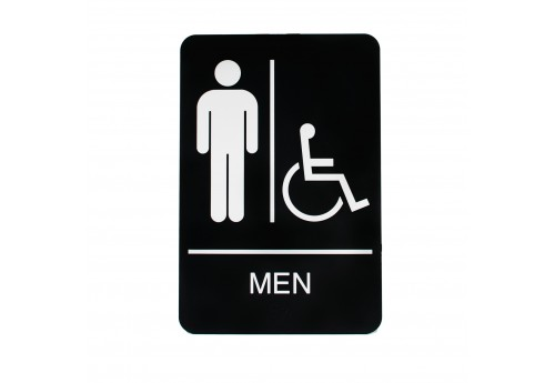 Men Handicap Restroom Sign