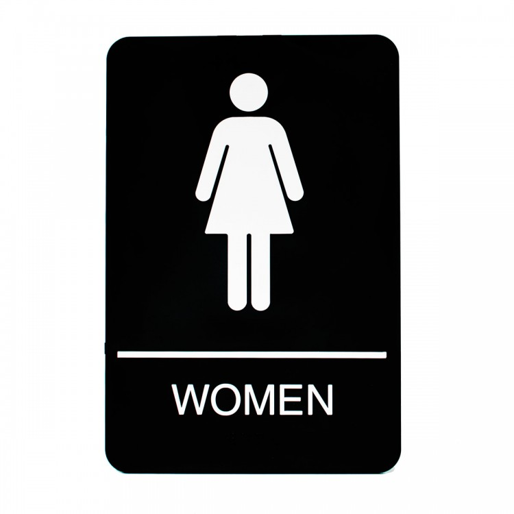 Women restroom sign for Women s bathroom sign