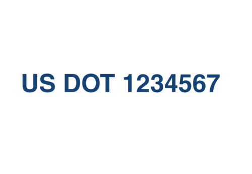 US DOT Numbers (Sold in Pairs)