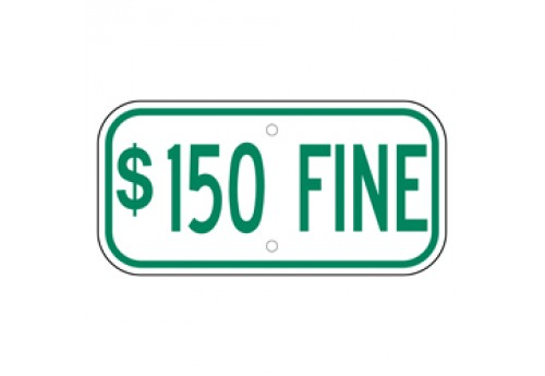 Handicap $150 Fine Sign