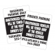 "Standard 18"" x 24"" Towing Signs"