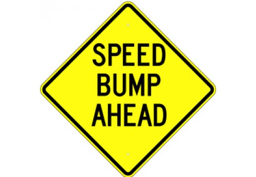 "24"" Speed Bump Ahead"